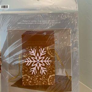 Pier 1 Gold gift box NWT